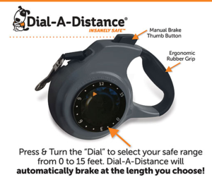 Dial-A-Distance Retractable Leashj